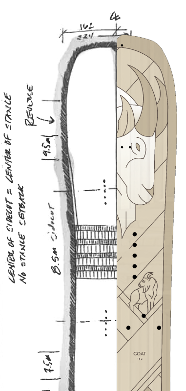 Split Sketch and Cardiff Goat Board